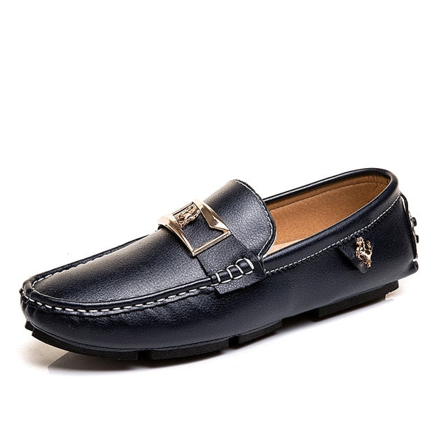 Men's Loafers - Leather Driving Boat Shoes