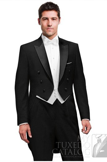 Tailcoat Style Groom Tuxedo/Lapel  ( Jacket+Pants+Vest+Tie )