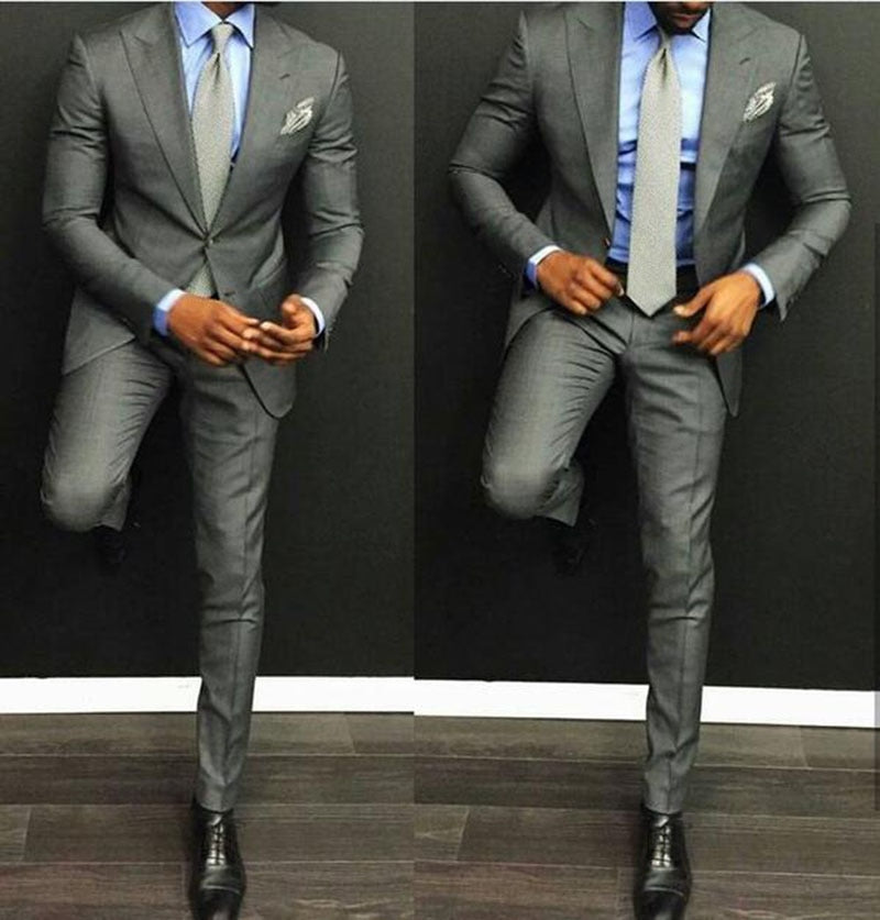 3 Piece Gentleman's Classic Slim Fit Custom Suit