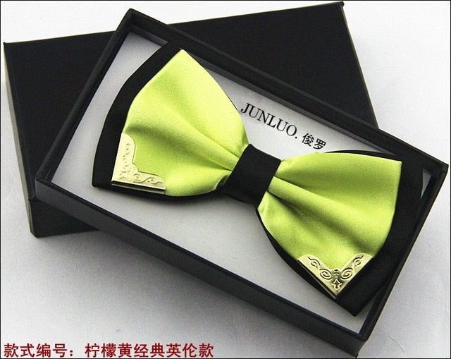 Daschop Fashion Metal Head Bow Ties