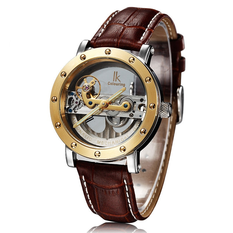 Original Tourbillon Automatic Luxury Skeleton & Genuine Leather