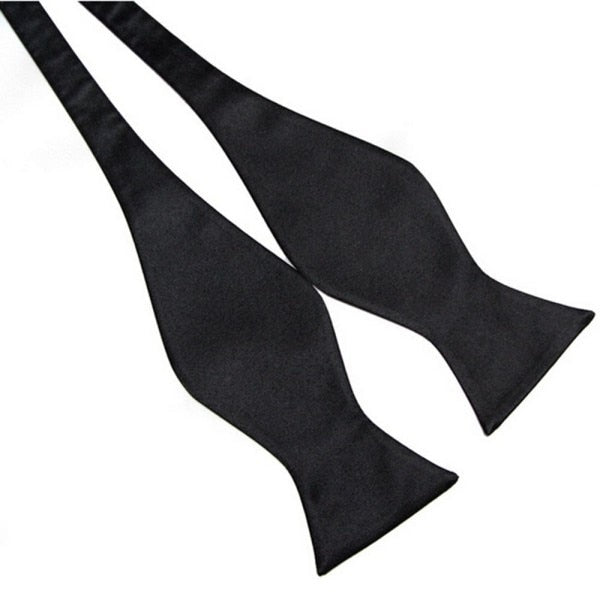 Men's Plain Silk Self Tie - Bow Ties Multi-Colors