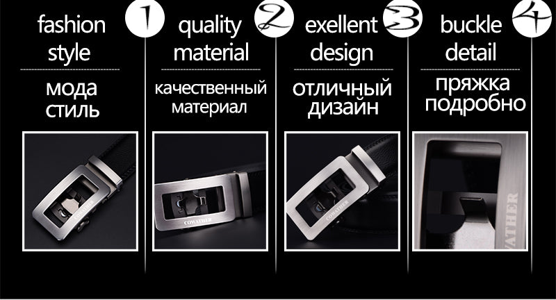 Genuine Leather **Automatic Buckle** Newest Fashion Design