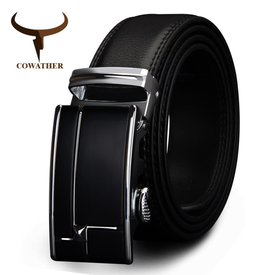Genuine Leather **Automatic Buckle Waistband