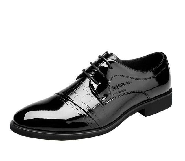 Business Leather Pointed Toe Breathable Oxfords
