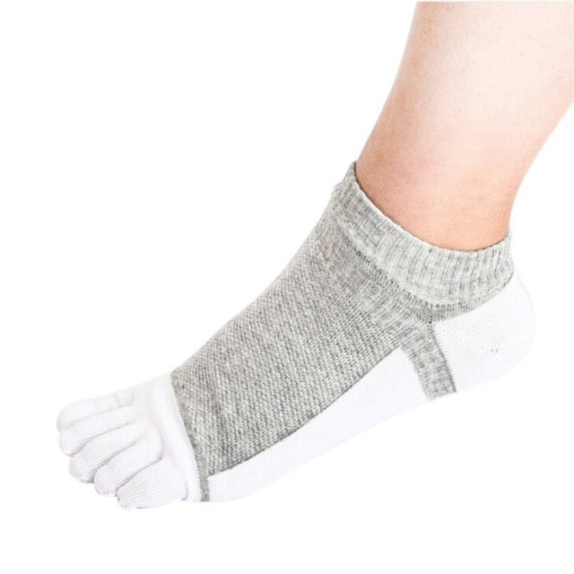 Casual All Seasons 5 Toe Socks -  6 Colors