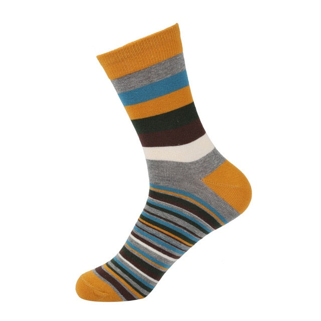 Men's Stripe Pattern Socks - 5 pair