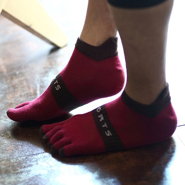 1 Pair Short -Spandex /Polyester Toe Socks