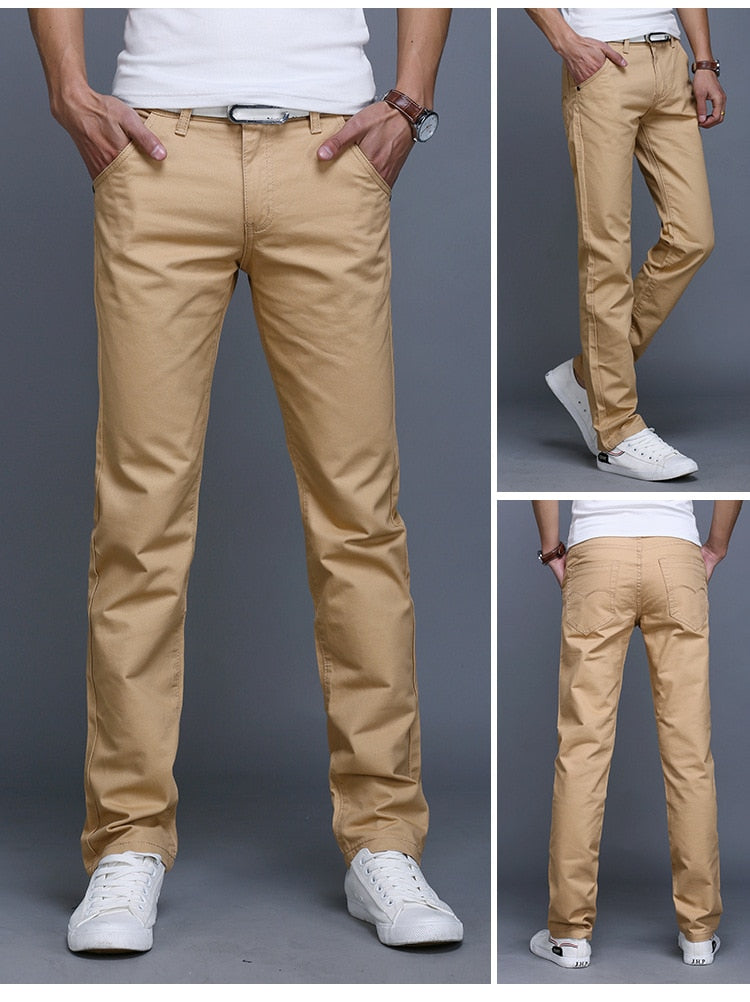 New Fashion Slim Fit 100% Cotton Trousers