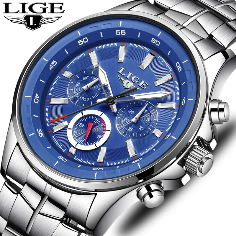 LIGE Brand Luxury Quartz Clock