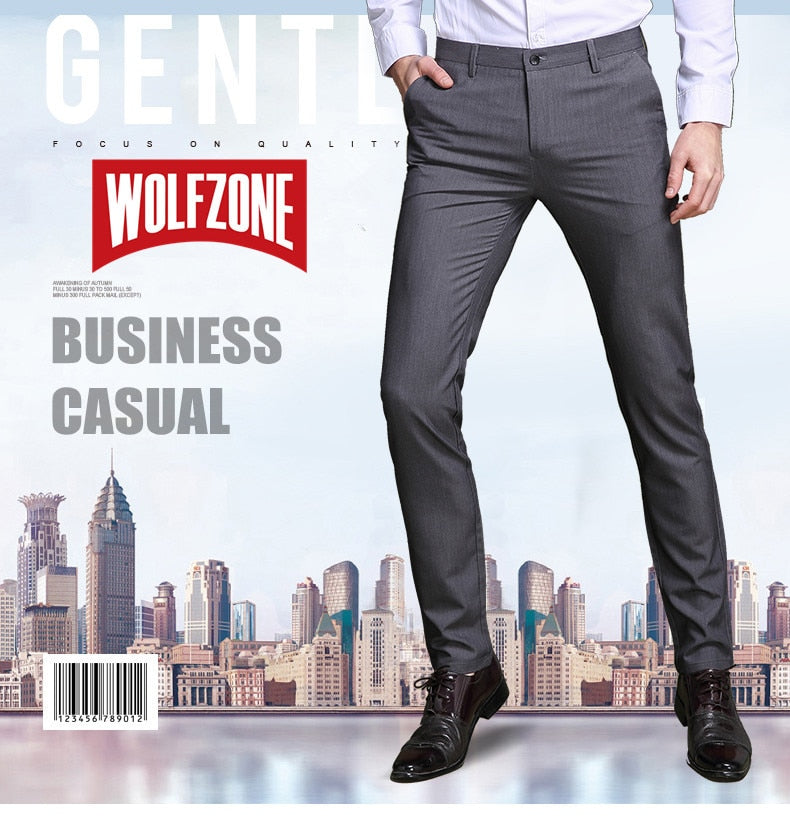 Business Casual Slim Fit Pants - 075