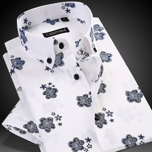 Floral Print Casual Rounded Hem Button-down