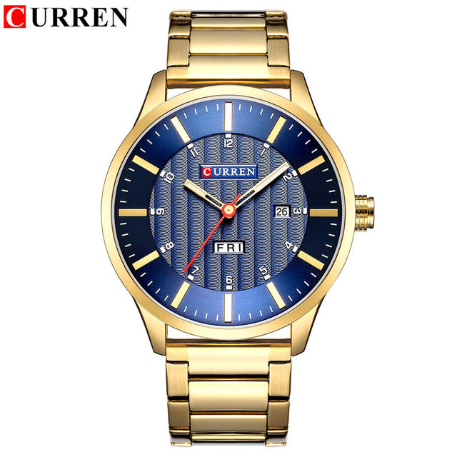 Royal Blue Gold Men's Business Quartz Watch