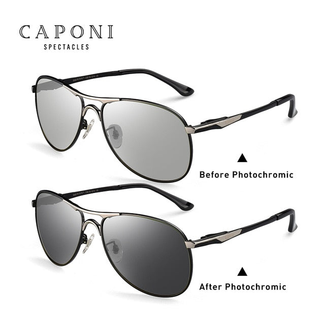 Caponi Driving Photochromic Sunglasses