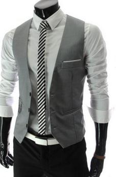 Real Worsted Acetate Fashion Vest