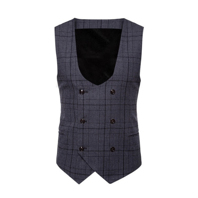 Classic Plaid Business Vest