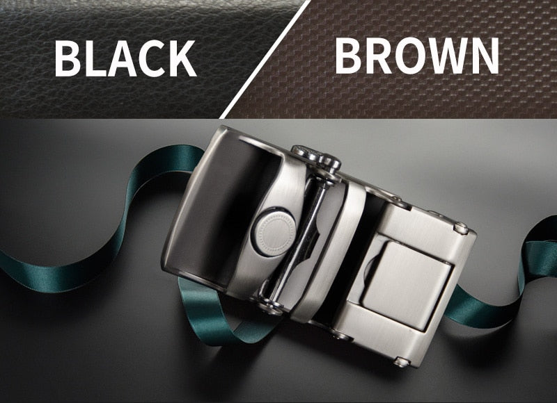Genuine Leather Cowhide Bezel **Automatic Buckle** Newest Arrival