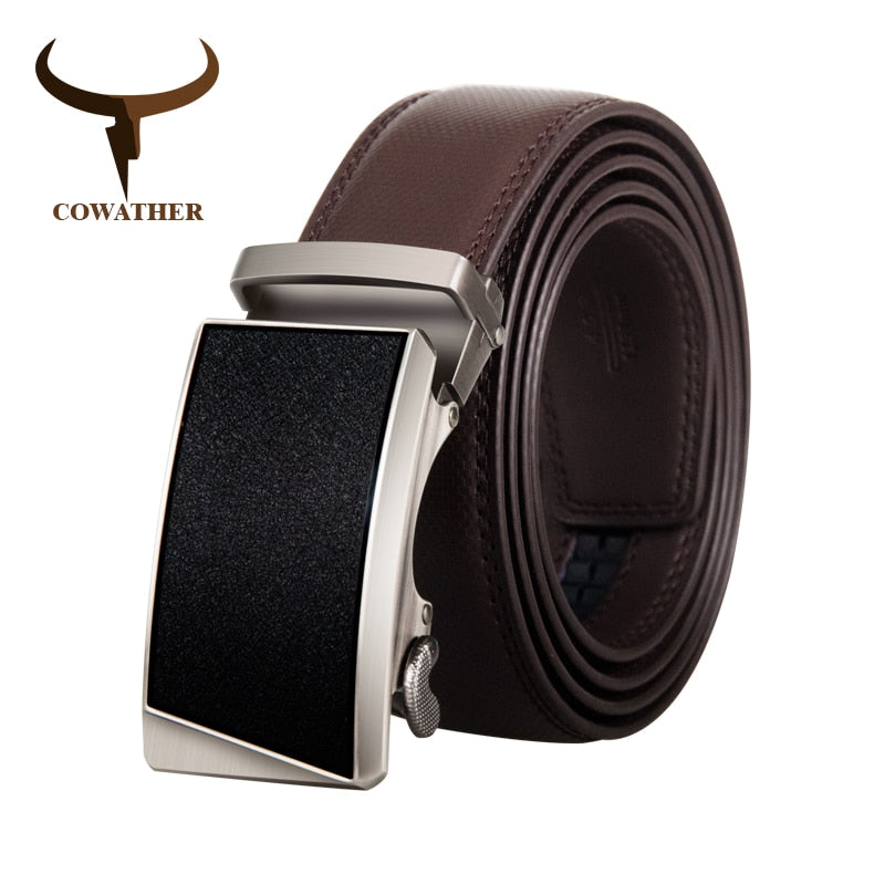 Men's Genuine Leather Alloy Buckle Fashion  Waistband