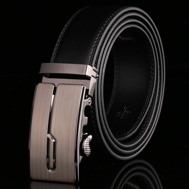 Men's Genuine Leather Ratchet Belt # 073