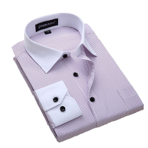 Daschop Cotton Long Sleeve Solid Slim Fit Dress Shirt 5XL 6XL 7XL 8XL
