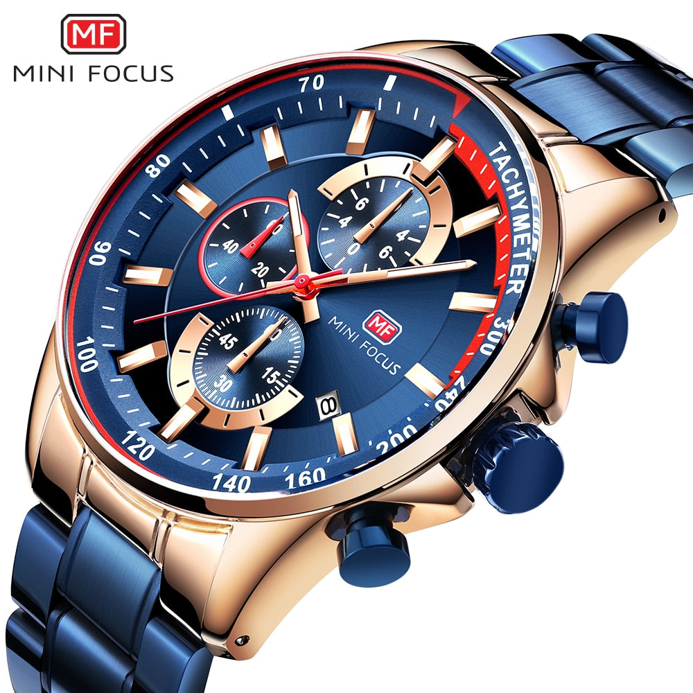 Fashion Blue Quartz Watch