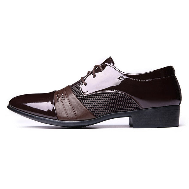 Men's Dress Lace-up Pointed Toe Oxford