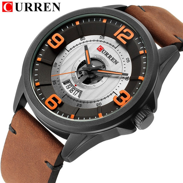 Curren Masculino Luxury Sport Quartz Date Clock