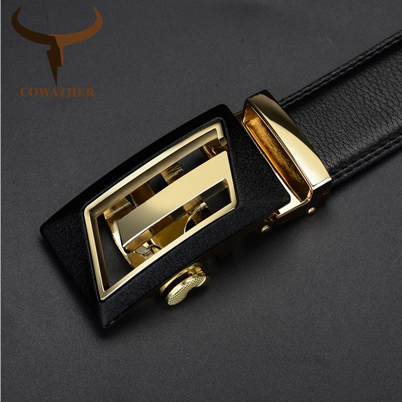 Designer **Automatic Buckle** Cowhide Luxury Belt