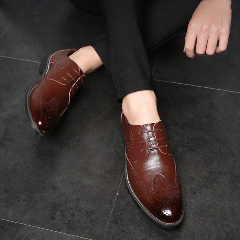 Brogue Style Lace-up Oxfords Flats