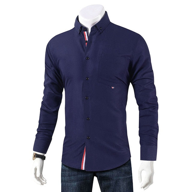 Fitted Casual Button-Down