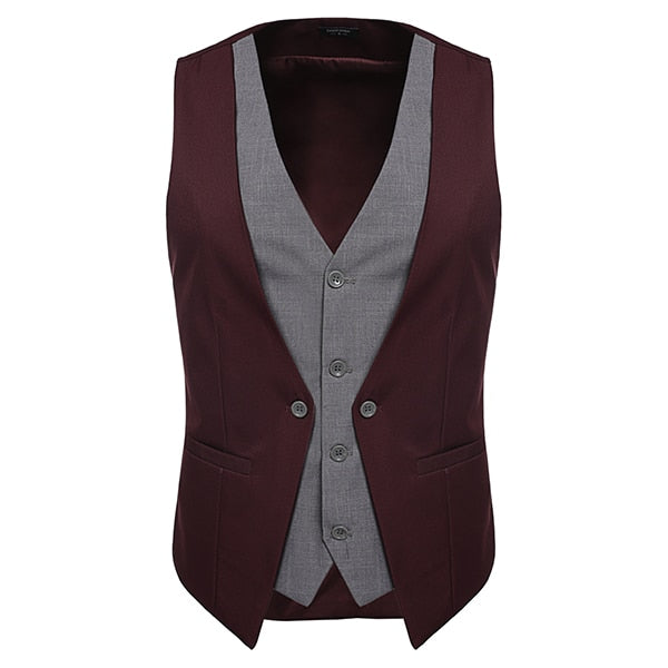 COOFANDY Formal Slim Wear Vest - Single-Breasted