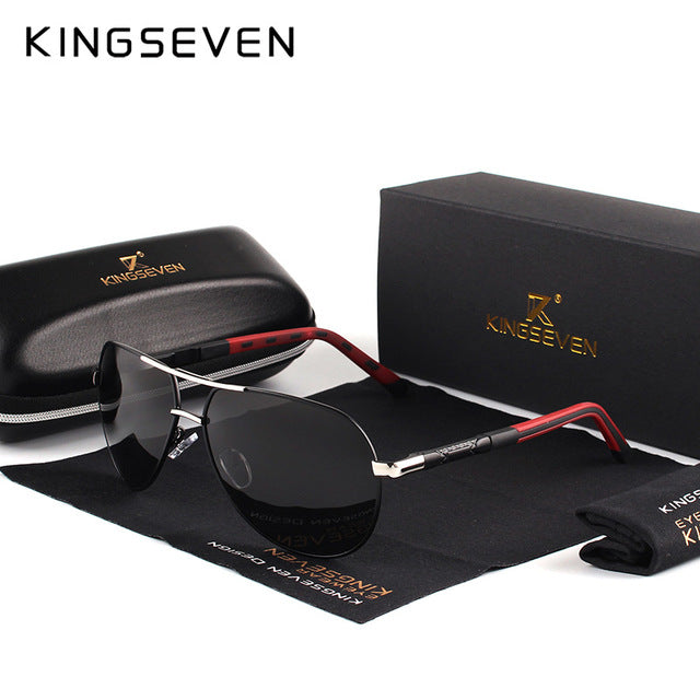 KING-SEVEN Vintage Aluminum Polarized Sunglasses