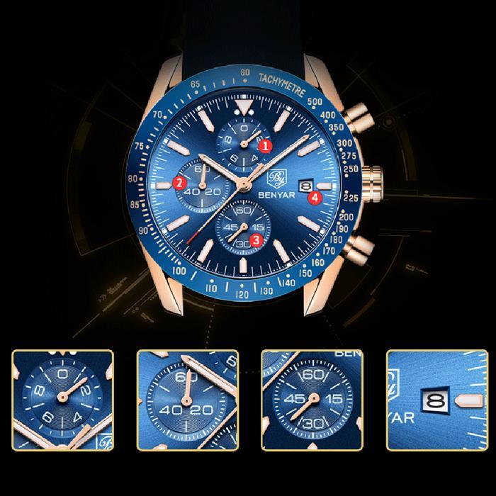 Men's Luxury Chronograph in Blue