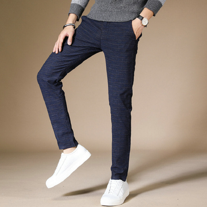 Business Casual Slim Fit Elastic Pants