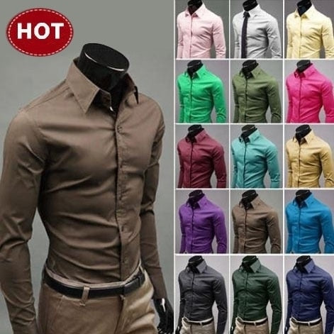 Men's Multi-Color Slim Fit Dress Shirts