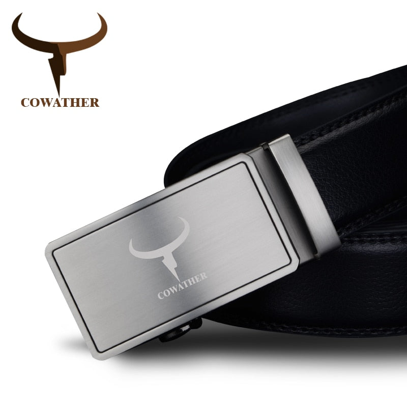 Genuine Leather Brushed Alloy **Automatic Buckle**