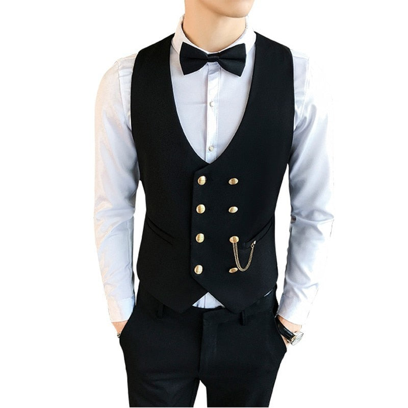2020 Fashion  Double-breasted Waistcoat