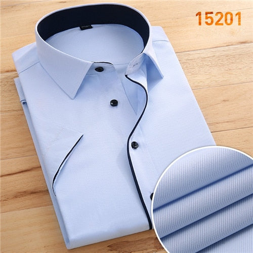 Fashion Slim Fit  Square Collar Shirt