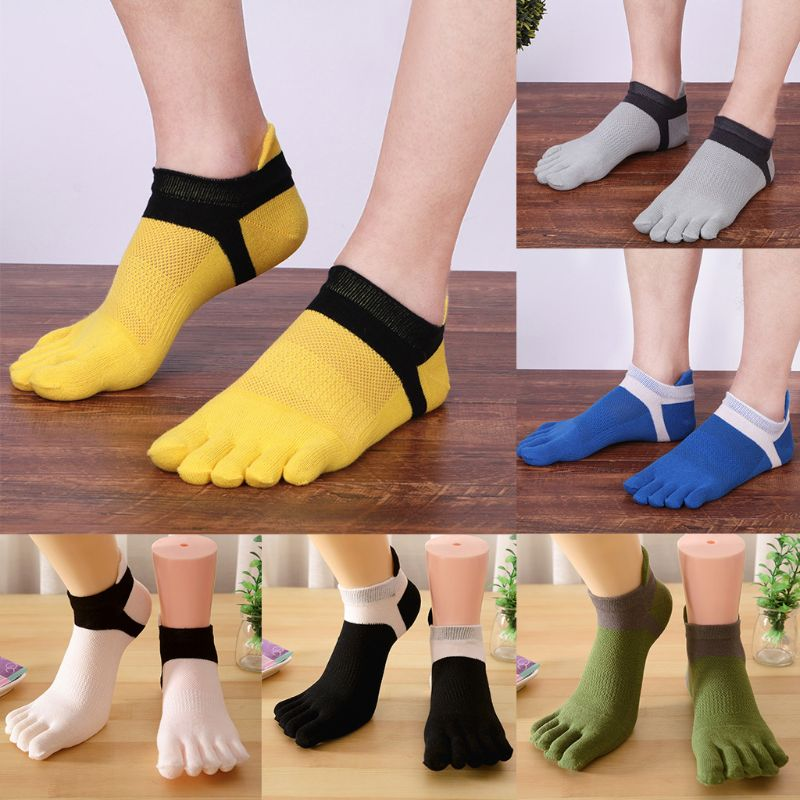 Breathable Five Finger Low Cut Socks