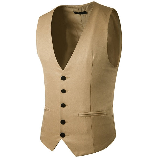 (New) Men's Fashion Single Breasted Vest