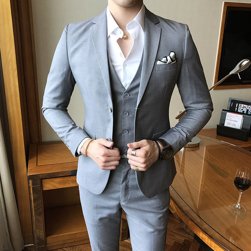 Solid Color Slim Fit Dinner Suit