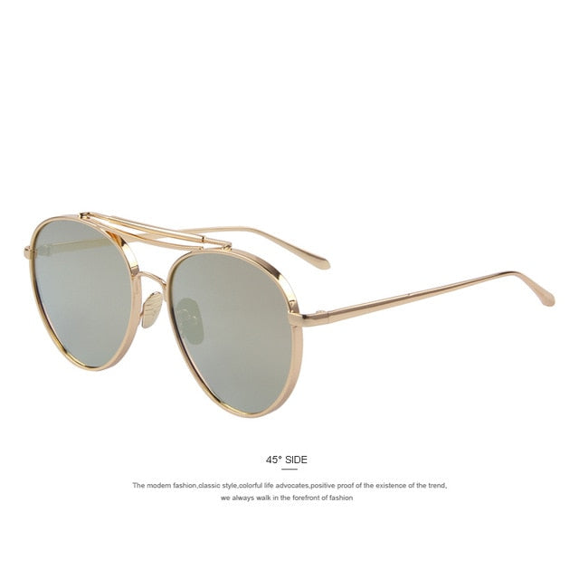 Uni-Fashion Double Bridge Retro Shades - UV400