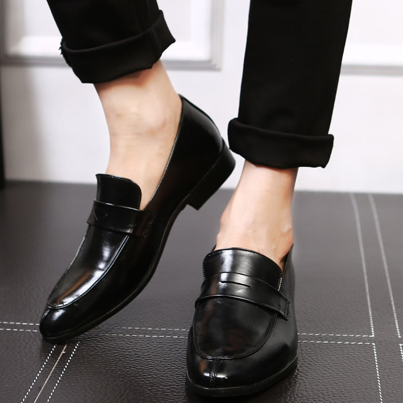 Leather Business Dress Loafers
