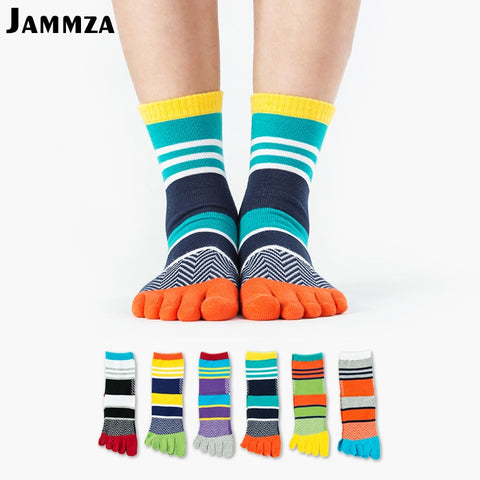 Pure Cotton Breathable Five Finger Socks
