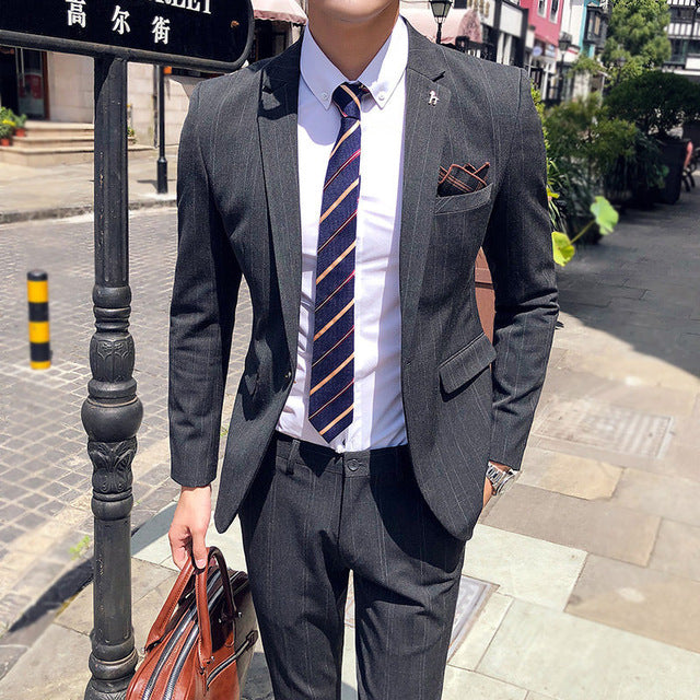 Slim Fit Plaid Suit