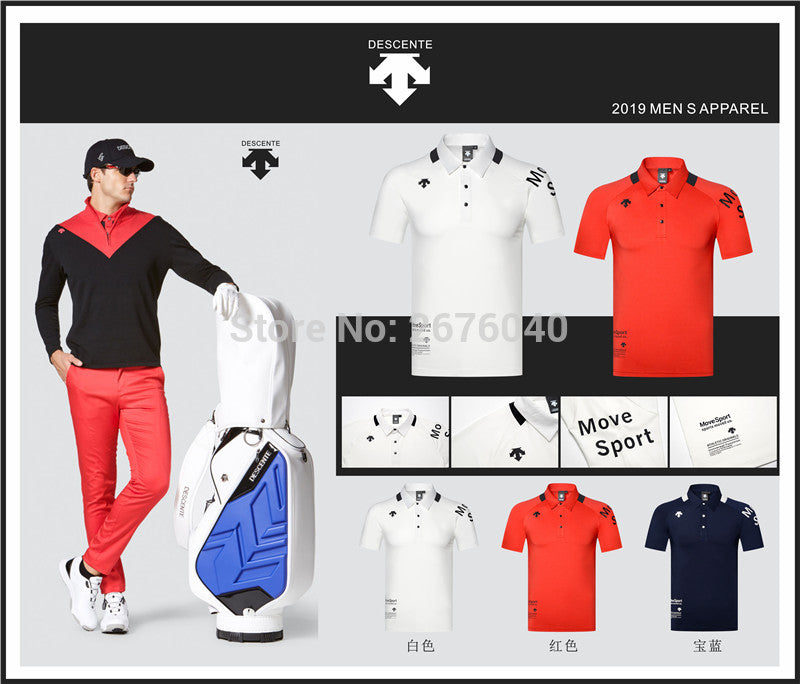 Golf Leisure Polo Slim Fit Down Collar