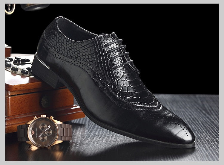 Leather Business Pointy Dress Shoes