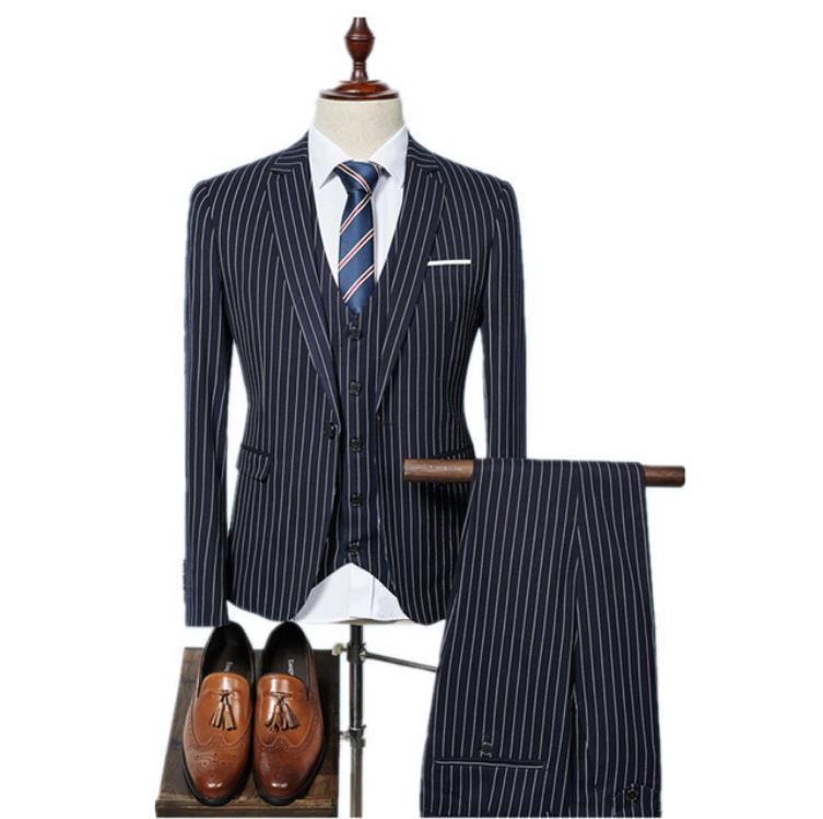 Men's Custom 3 Piece Slim Fit Business Suit