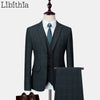 Men's Slim Fit 3 Piece Wedding Ensemble T220