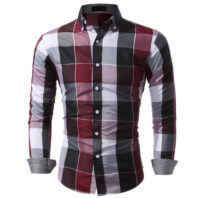 Plaid Cotton Classic Slim Fit